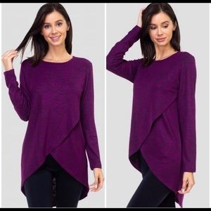 *LAST One* Faux Wrap Tunic Top